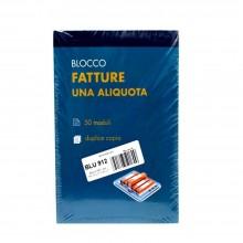 BLOCCO FATTURE 1 ALIQUOTA DOPPIA COPIA BOX 10PZ