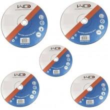 5 dischi lamelle superficie bombata per smerigliatrici 125 mm grana P80 metalli legno