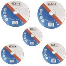 5 dischi lamelle superficie bombata per smerigliatrici 125 mm grana P60 metalli legno