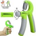 Attrezzo ginnico Hand Grip a Molla con forza regolabile per allenamento mano avambraccio esercizi potenziamento muscoli