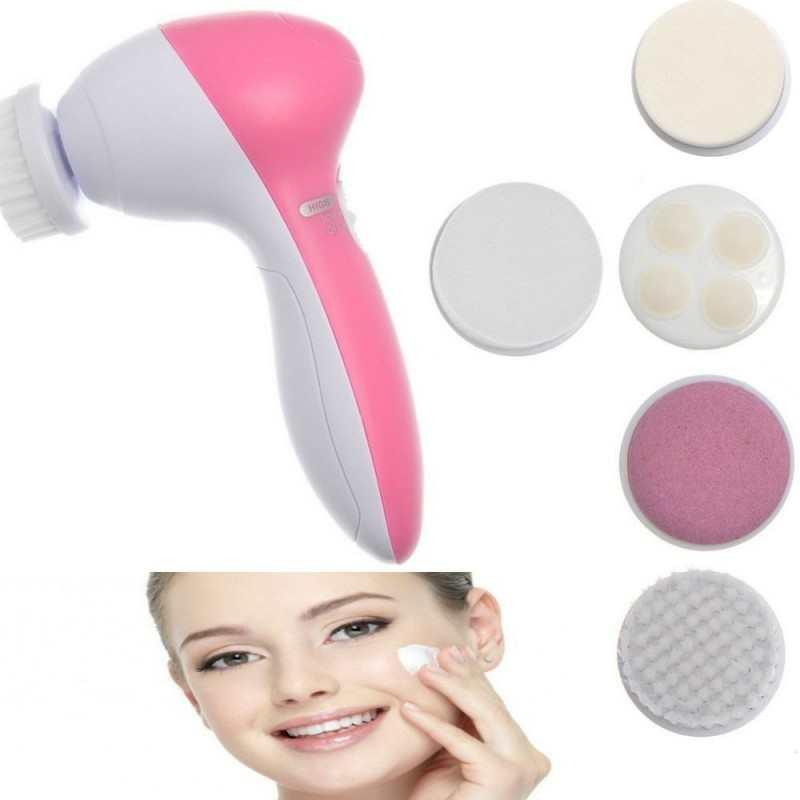 Massaggiatore viso corpo facciale purifica esfoliante 5 in 1 massaggio spazzola