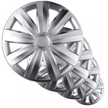 Copricerchi borchie coppa ruote 15'' plastica cromata  auto ruote cerchione 15