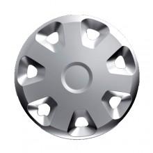 Copricerchi borchie coppa ruote 14'' plastica cromata  auto ruote cerchione 14