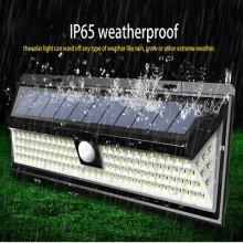 Faretto LED 190SMD impermeabile ip65 pannello solare sensore movimento 120 gradi