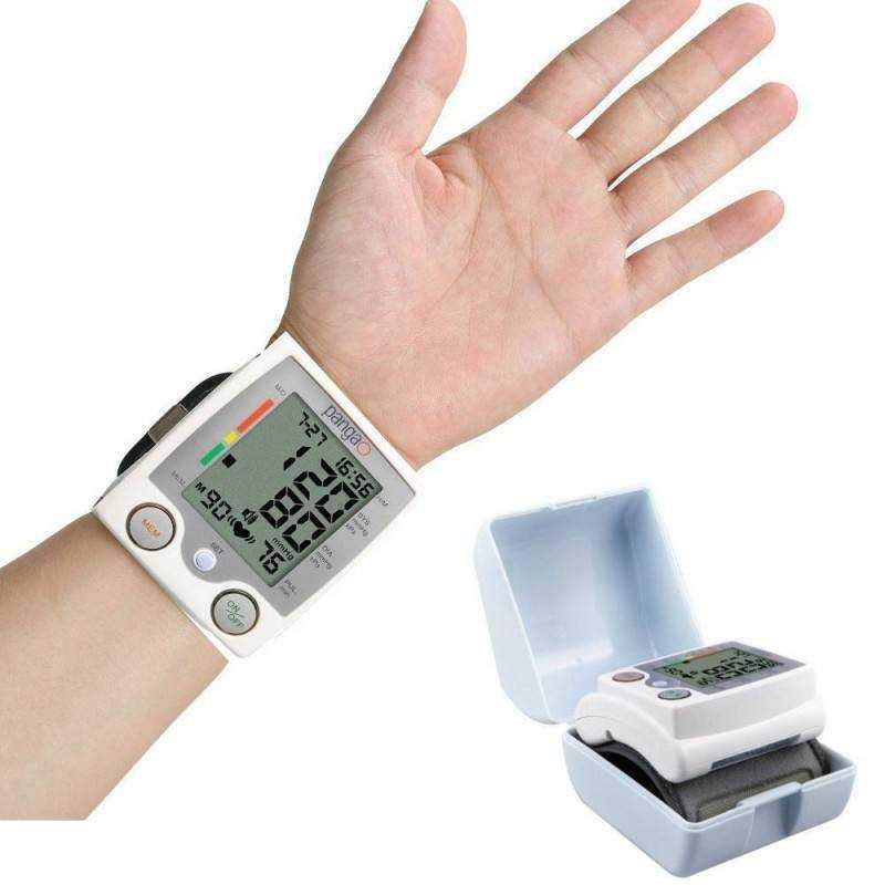 Misuratore di pressione da polso Sfigmomanometro digitale da polso