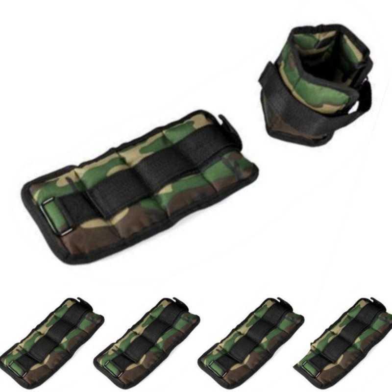 Una coppia di cavigliere ed una coppia di polsiere ottimi per allenamento e resistenza con peso 0,5 KG - Colore Mimetico
