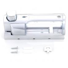Dispenser Erogatore Sapone Liquido da Parete Muro Bagno ABS 380 ml argento