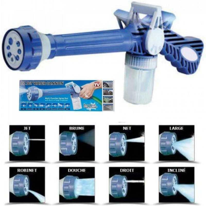 Pistola pulitrice idrompompa lancia portatile giardino 8 getti acqua pompa auto