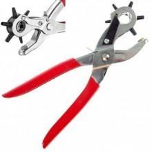 Pinza a Fustellatrice Buca Fora Cintura Cuoio 2-4,5 mm con Testa Rotante