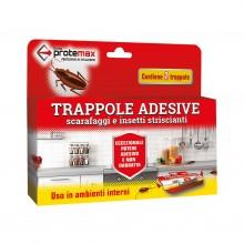 Trappola adesiva per scarafaggi insetti striscianti Insetticida 2 pezzi Protemax