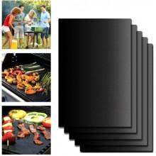 5 x tappetino barbecue forno antiaderente riutilizzabile lavabile tappeto grill