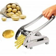 Cippatrice taglia Patate Patatine Fritte chips Cutter 2 dimensioni lame acciaio