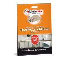 Trappola Adesiva Cattura topi piccoli Topolini Insetti 15x21 Cm 2 Pezzi Protemax