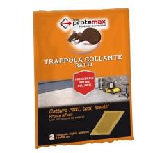 Trappola Adesiva Collante Cattura Ratti Topi Insetti 19x28 Cm 2 Pezzi Protemax
