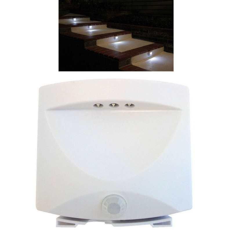 Mini Lampada 3 LED Azionata da Sensore di Movimento Luce Notturna Senza Fili