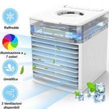 Mini ventilatore raffrescatore condizionatore purificatore umidificatore con 7 colori aria fresca purifica