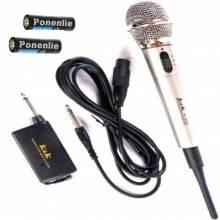 Karaoke Amplificatore Microfono Wireless o Cavo Registratore Canto jack 4.5