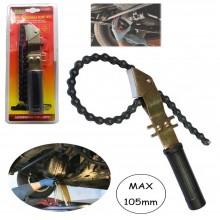 Chiave snodata a catena per smontaggio filtro dell'olio Max 105 mm motore auto