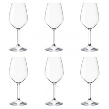 Bormioli Rocco set 6 Calci Resturant bianco 42.5 cl vetro ideali per vino bianco