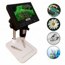 Q-XW01 Microscopio con display digitale USB TF Card ingrandimento 1000X