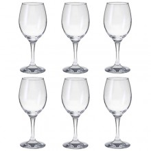 Set 6 bicchieri calici da vino rosso bianco acqua COK Zar gran vino in vetro