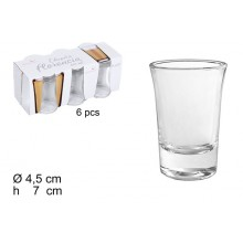 Set 6 bicchierini Florencia vetro liquore bicchieri chupito shot amaro feste bar