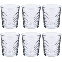 Set 6 bicchieri Ibiza acqua 26 cl bicchieri trasparenti tavola resistenti decoro