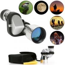 Cannocchiale telescopico HD mini telescopio monoculare mirino monocolo 8x20