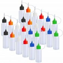24x Bottiglia boccette Con Ago Punta Precisione Liquido Contagocce Dispenser Flacone aroma
