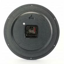 Orologio Da Parete Tondo fondo nero numeri bianchi 25cm Diametro Breaker 235-5