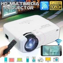 Proiettore LED Ultra HD WIFI 3D wireless D40W casa Cinema 1600LM Supporto Q-A16