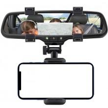 Supporto cellulare Pinza da Specchietto Retrovisore Auto Macchina Smartphone
