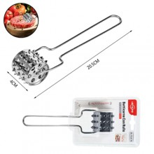 Foratutto batticarne a rullo acciaio per carne e impasti cucina