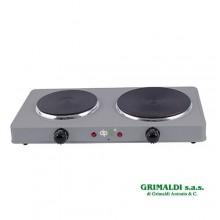 Fornello elettrico a doppia piastra dpm 1000+1500w con termostato regolabile