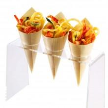 Eco coppette coni medi finger food legno di pino ciotole buffet porta riso