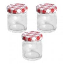 Vaso barattolo boccaccio base circolare vetro 45 ml con tappi x alimenti conserve