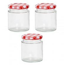 Vaso barattolo boccaccio base circolare vetro 250 ml con tappi x alimenti conserve