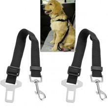 2x cintura di sicurezza cani cane guinzaglio regolabile auto universale collare