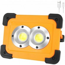 Lampada emergenza 32 LED COB ricaricabile lavoro portatile energia solare B0265