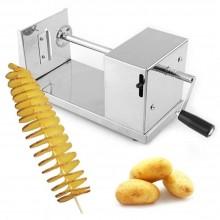 Taglia affetta patate a spirale in acciaio inox professionale chips ricciolo