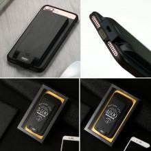 Power Bank iPhone 6 7 8 Cover Batteria integrata caricatore 3800mAh nero