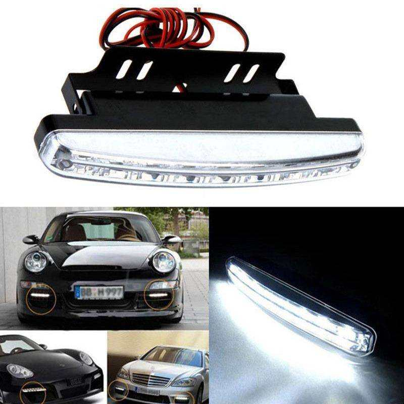 Fari luci LED universali per auto bianco freddo fendinebbia