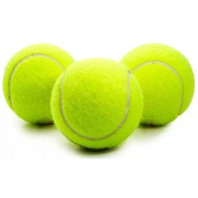 Set 3 palline da tennis gialle palle per allenamento racchetta sport racchettoni