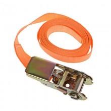 2x Cinghia di carico fissaggio arancione trasporto acciaio extra resistente