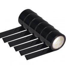 6 rotoli nastro adesivo nero 70m x 48mm silenzioso imballaggio rotolo imballo