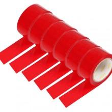 6 rotoli nastro adesivo rosso 70m x 48mm silenzioso imballaggio rotolo imballo