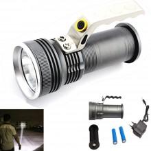 Torcia LED portatile impermeabile batterie ricaricabile 3 fasi cree 800 lumen