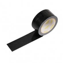6 rotoli nastro adesivo telato nero  5m x 48mm silenzioso imballaggio rotolo imballo