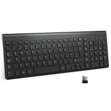 Tastiera wifi wireless pc 2.4ghz keyboard computer no fili tastierino numerico