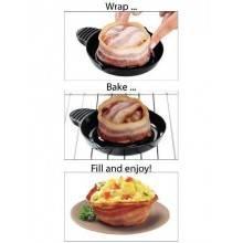 Confezione 2 perfect bacon bowl stampino forma forno microonde cucina bacon